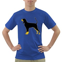 Black And Tan Coonhound Silo Color Dark T-Shirt