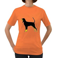 Black And Tan Coonhound Silo Color Women s Dark T-Shirt