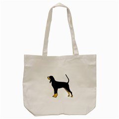 Black And Tan Coonhound Silo Color Tote Bag (Cream)