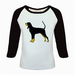 Black And Tan Coonhound Silo Color Kids Baseball Jerseys