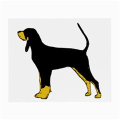 Black And Tan Coonhound Silo Color Small Glasses Cloth