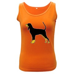 Black And Tan Coonhound Silo Color Women s Dark Tank Top