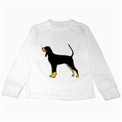 Black And Tan Coonhound Silo Color Kids Long Sleeve T-Shirts