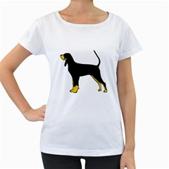 Black And Tan Coonhound Silo Color Women s Loose-Fit T-Shirt (White)