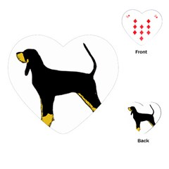Black And Tan Coonhound Silo Color Playing Cards (Heart)