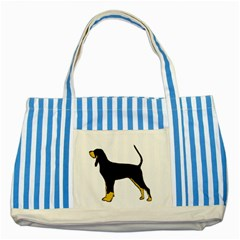 Black And Tan Coonhound Silo Color Striped Blue Tote Bag