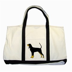 Black And Tan Coonhound Silo Color Two Tone Tote Bag