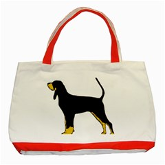 Black And Tan Coonhound Silo Color Classic Tote Bag (Red)