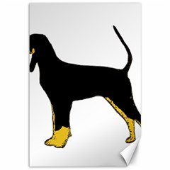 Black And Tan Coonhound Silo Color Canvas 12  x 18
