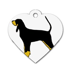 Black And Tan Coonhound Silo Color Dog Tag Heart (Two Sides)