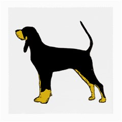 Black And Tan Coonhound Silo Color Medium Glasses Cloth (2-Side)