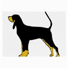 Black And Tan Coonhound Silo Color Large Glasses Cloth (2-Side)
