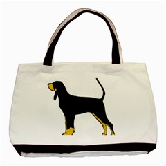 Black And Tan Coonhound Silo Color Basic Tote Bag (Two Sides)