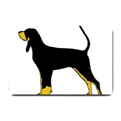 Black And Tan Coonhound Silo Color Small Doormat