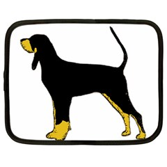 Black And Tan Coonhound Silo Color Netbook Case (Large)
