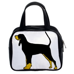 Black And Tan Coonhound Silo Color Classic Handbags (2 Sides)
