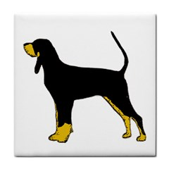 Black And Tan Coonhound Silo Color Face Towel