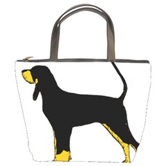 Black And Tan Coonhound Silo Color Bucket Bags