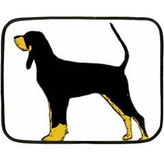 Black And Tan Coonhound Silo Color Double Sided Fleece Blanket (Mini)