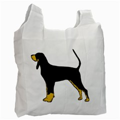 Black And Tan Coonhound Silo Color Recycle Bag (One Side)
