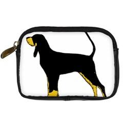 Black And Tan Coonhound Silo Color Digital Camera Cases