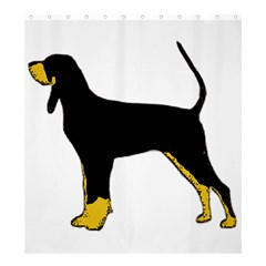 Black And Tan Coonhound Silo Color Shower Curtain 66  x 72  (Large)