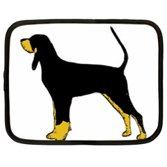 Black And Tan Coonhound Silo Color Netbook Case (XXL)