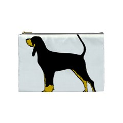 Black And Tan Coonhound Silo Color Cosmetic Bag (Medium)