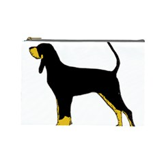 Black And Tan Coonhound Silo Color Cosmetic Bag (Large)