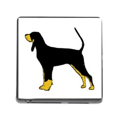 Black And Tan Coonhound Silo Color Memory Card Reader (Square)