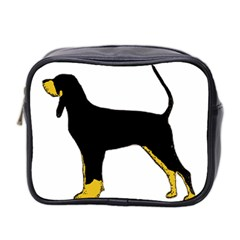 Black And Tan Coonhound Silo Color Mini Toiletries Bag 2-Side