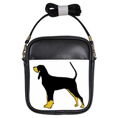 Black And Tan Coonhound Silo Color Girls Sling Bags