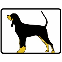 Black And Tan Coonhound Silo Color Fleece Blanket (Large)