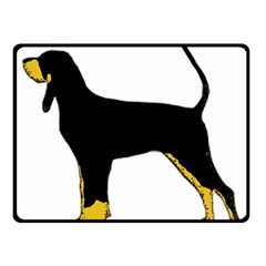 Black And Tan Coonhound Silo Color Fleece Blanket (Small)