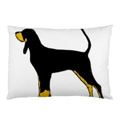 Black And Tan Coonhound Silo Color Pillow Case (Two Sides)