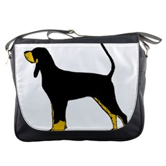 Black And Tan Coonhound Silo Color Messenger Bags