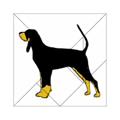 Black And Tan Coonhound Silo Color Acrylic Tangram Puzzle (6  x 6 )