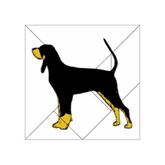 Black And Tan Coonhound Silo Color Acrylic Tangram Puzzle (4  x 4 )