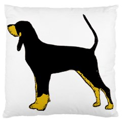 Black And Tan Coonhound Silo Color Large Cushion Case (Two Sides)