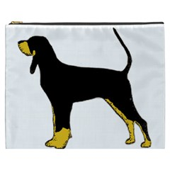 Black And Tan Coonhound Silo Color Cosmetic Bag (XXXL)