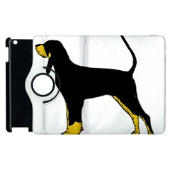 Black And Tan Coonhound Silo Color Apple iPad 3/4 Flip 360 Case