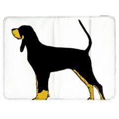 Black And Tan Coonhound Silo Color Samsung Galaxy Tab 7  P1000 Flip Case