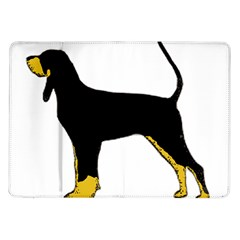 Black And Tan Coonhound Silo Color Samsung Galaxy Tab 10.1  P7500 Flip Case