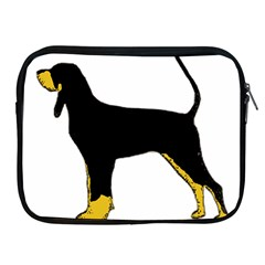 Black And Tan Coonhound Silo Color Apple iPad 2/3/4 Zipper Cases