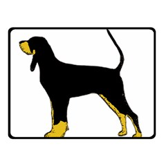 Black And Tan Coonhound Silo Color Double Sided Fleece Blanket (Small)