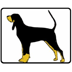 Black And Tan Coonhound Silo Color Double Sided Fleece Blanket (Medium)