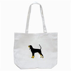 Black And Tan Coonhound Silo Color Tote Bag (White)