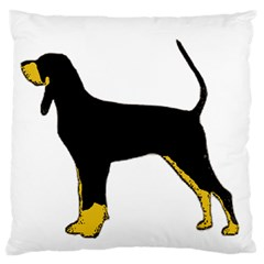 Black And Tan Coonhound Silo Color Large Flano Cushion Case (Two Sides)