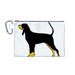 Black And Tan Coonhound Silo Color Canvas Cosmetic Bag (M)