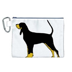 Black And Tan Coonhound Silo Color Canvas Cosmetic Bag (L)